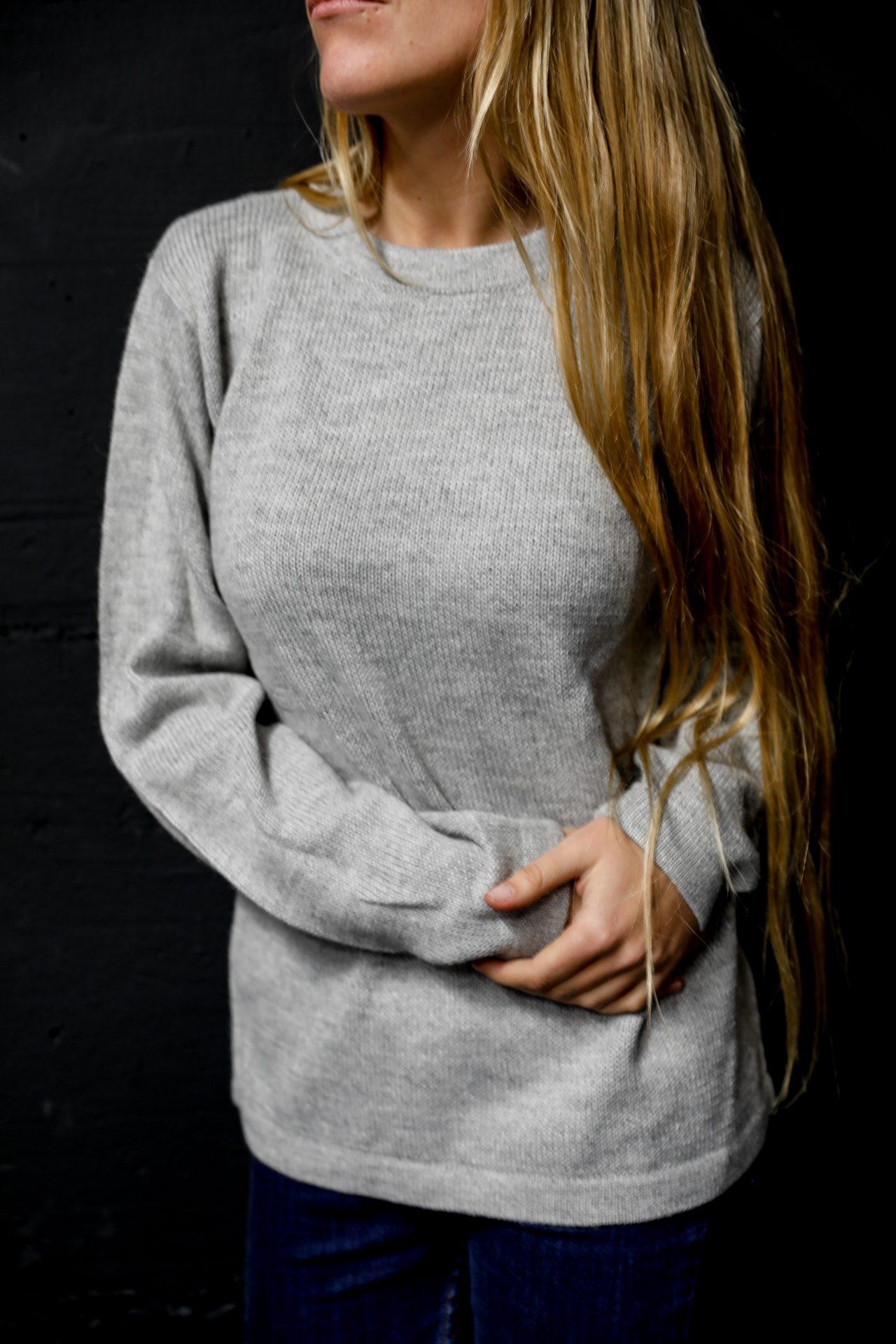 unicolor women alpaca sweater