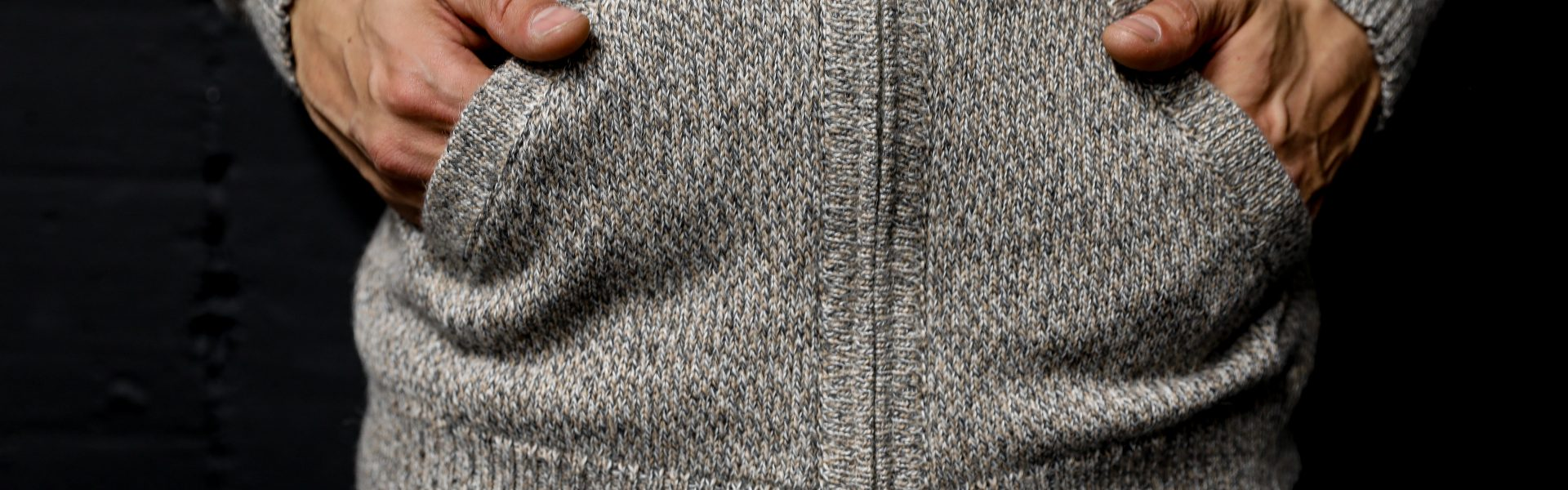 Alt+alpaca zip sweater men